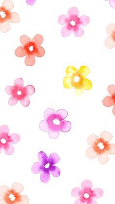 Watercolor Flowers iPhone Wallpaper