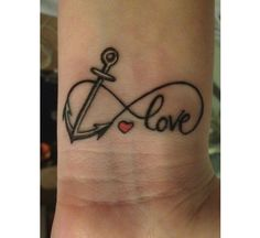 Anchor infinity tattoo...except family instead of love and without the heart