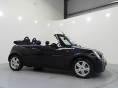 MINI Cooper 1.6 Convertible Finished in Astro Black with Black Interior. For more details: http://www.simonjamescars.co.uk/mini-cooper-convertible-in-derbyshire-3767151