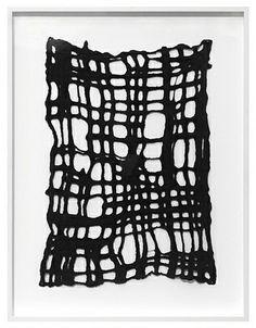 Andrea Zittel 2011  MATERIALS:  Hand felted black wool