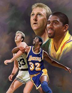 21f2cd40d64bc7 Magic Johnson and Larry Bird Lakers vs Celtics
