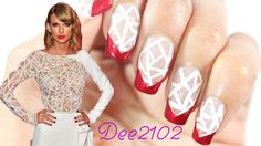 Taylor Swift Inspired Nails! The gorgeous print on her dress replicated onto your nails. ;)