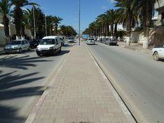 Grande artère à Jendouba, ville du centre ouest de la Tunisie