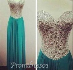2015 sweetheart blue long chiffon prom dress, ball gown, cute+dresses+for+teens  DIYouth.com Charming Sweetheart Crystal With Sequins Beads Girls' Graduation Dresses Backless Chiffon Long Prom Formal Pageant Dress Gowns, beaded cocktail dress, modest bridesmaid dress, sweet 16 dress