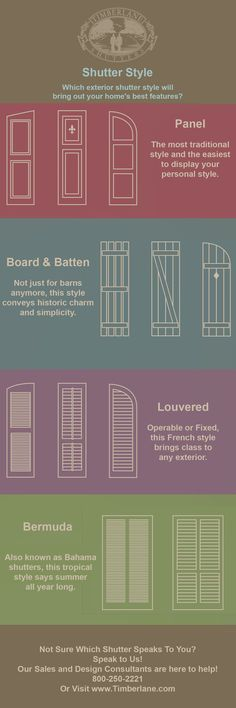 Bermuda, Panel, Board and Batten or Louver-Which Shutter Style Is Right For You and Your Home?
