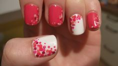 polka dot nail designs | You can see the dots on the pink nails pretty well with the ...