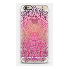 HAPPY BOHO MANDALA CRYSTAL CLEAR PHONE CASE ($39) ❤ liked on Polyvore featuring accessories, tech accessories, phone, phone cases, cases and electronics