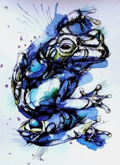 watercolor frog like this one, @Heather Creswell Creswell Creswell Bettilyon Bouchard