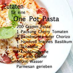 One Pot Pasta Zutaten