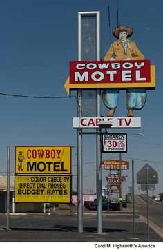 Cowboy Motel, old U.S. Route 66 in Amarillo, Texas. Photo, 2014, by Carol M. Highsmith. The Lyda Hill Texas Collection of Photographs in Carol M. Highsmith's America Project, Library of Congress, Prints and Photographs Division.