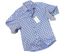 Boy's Sport Shirt 21283 Diamond Print