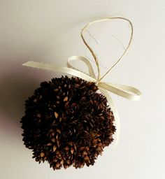 Hey, I found this really awesome Etsy listing at http://www.etsy.com/listing/161258565/handmade-pine-cone-ball-christmas
