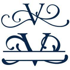 Silhouette Design Store - View Design split & full flourish monogram - y Cricut Monogram, Monogram Logo, Monogram Letters, Cricut Vinyl, Cricut Fonts, Vinyl Projects, Design Projects, Cnc Projects, Wood Burning Stencils