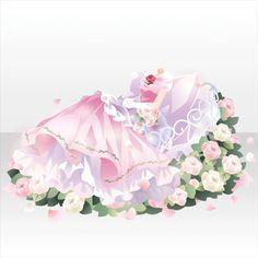花に囲まれた眠り姫