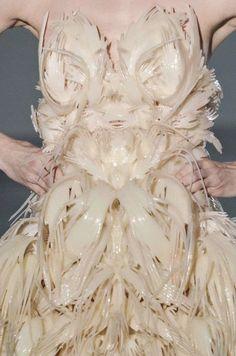 3D-Printed Dress - sculptural fashion; wearable art; innovative fashion design // Iris Van Herpen Fall 2014