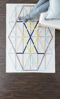 New Ikea PS rug made of pure new wool so it us naturally soil repellent and very durable The pattern is embroidered which adds depth and texture