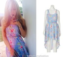 Bella Thorne wears this Juniors Candie's Floral Bow-Back Hi-Low Dress.
