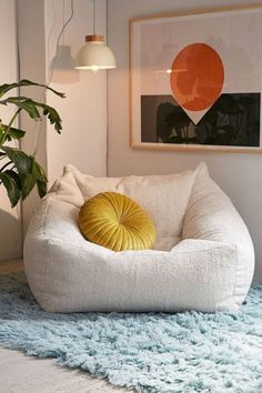 708a8b06c0 cozy home decor inspiration - faux sheepskin squishy lounge chair bean bag  situation Chairs For Kids