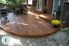A deck substructure made with Hahn plastics will never go away. If you want your next deck to be the last deck you build, consider a plastic substructure. Landscaping Around Deck, Pool Landscaping, Small Backyard Decks, Backyard Patio, Low Deck Designs, Curved Patio, Low Maintenance Garden Design, Floating Deck, Cool Deck