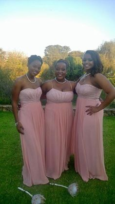 My bridesmaids on the day...dusty pink, vintage elegance...xxx