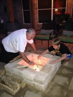 DIY Firepit that my husband & son made!