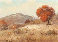 PORFIRIO SALINAS (American, 1910-1973) Fall Landscape Oil on canvas 12 x 9 inches (30.5 x 22.9 cm) Signed lower left: Porfirio Salinas