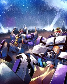 Skywarp and Astrotrain - Transformers _62by ~yfm