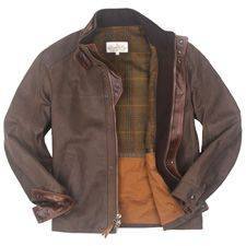 Lonepine Upland Jacket.  The contrasting full grain Italian calfskin trim is in perfect harmony and  lined in a beautiful wool blend plaid.  $1,260