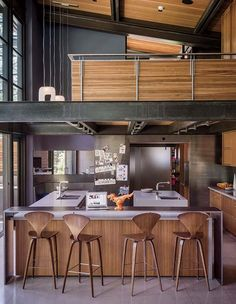 A modern sanctuary on a forested property in Martis Camp