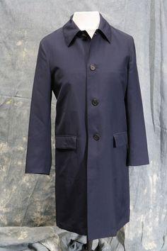 Mens designer mac, rain coat by Prada 40 chest, Dark blue, unworn, Label EU 48