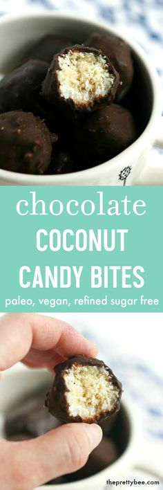 Decadent and delicious, these coconut candy bites are vegan, paleo, and allergy…