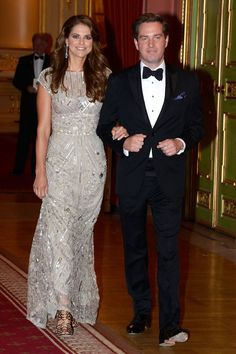 Princess Madeleine of Sweden and Christopher O'Neill on the eve of their wedding dinner party at The Grand Hotel on 7 June 2013 in Stockholm, Sweden: