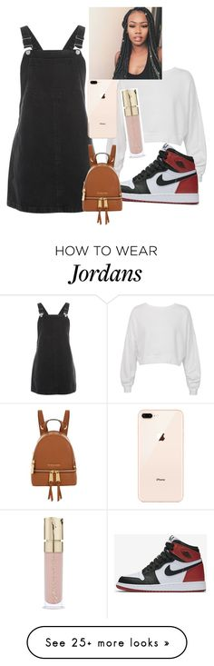 """""""Untitled #1072"""" by kennwest234 on Polyvore featuring Topshop, Sans Souci, NIKE, Michael Kors and Smith & Cult"""