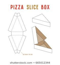 Stock vector box for pizza slice. Diy Father's Day Crafts, Fathers Day Crafts, Diy Arts And Crafts, Diy Gift Box, Diy Box, Diy Gifts, Cardboard Box Crafts, Paper Crafts, Cajas Silhouette Cameo
