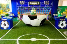 Soccer Birthday Parties, Football Birthday, Soccer Party, Baseball Party, Baby Boy Birthday, Sports Party, Soccer Ball, Soccer Decor, Soccer Theme
