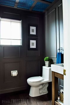 REVEAL: Dated Powder Room gets a Moody Makeover with bold colours from PARA Paints | pink little notebook