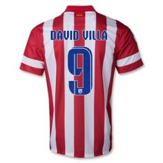 13-14 Atletico Madrid #19 Diego Costa Home Soccer Jersey Shirt