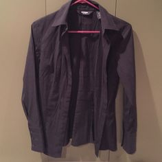 Express button down blouse in black Black Express button down. Have so many of these from when I was working this size is too small for me. Great with jeans or dressed up. EUC Express Tops Button Down Shirts