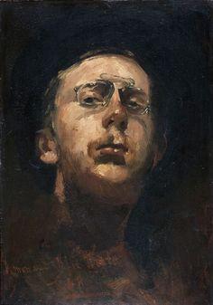 George Hendrik Breitner (1857-1923) • Zelfportret met lorgnet, ca.1882