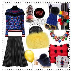 """Mixed colours"" by tiraboschi-b on Polyvore featuring moda, MSGM, Prada, Loeffler Randall, Inverni, Moncler e Yves Saint Laurent"
