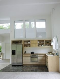 White Interior, Natural Wood Kitchen