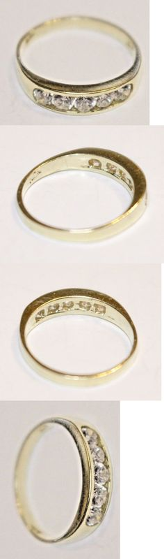 Rings Real Genuine 10K Yellow Gold Cross Baby Ring Band