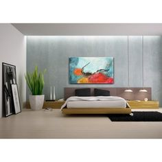 Abstract painting on canvas hand painted and signed $380