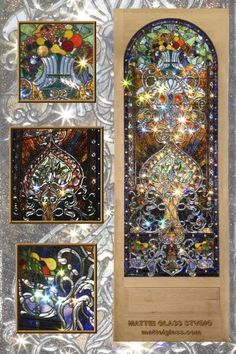 Custom Made Leaded Glass Landing Window