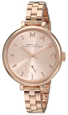 Marc by Marc Jacobs Women's MBM3364 Sally Rose Gold-Tone Stainless Steel Bracelet Watch -- You can get additional details at the image link.