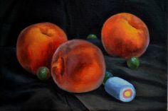 Temptation by Klara Sedlo  #klarasedlo #symbolism #darkart #darkpainting #mysticalpainting #sweet #fruit #oilpainting