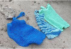 Beach Combing Bags | AllFreeHolidayCrafts.com