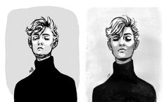 Draco Malfoy, traditional and digital version Natello