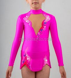 Romantic Fantasy Gymnastics Leotard. Gentle and romantic leotard with little hearts is a great variant for your first competition! #rhythmicgymnastics #rhythmic #gymnastics #sport #fashion #costume #competition