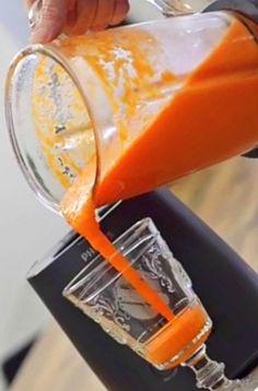 Rezept Orange Karotte Smoothie mit Ingwer und vielen Antioxidantien • eben Sport ist ein täglicher Vitamindrunk, zu neudeutsch: Smoothie sicherlich die besten Prävention. Orangen sind die Früchte, die im Winter und Frühjahr, bevor das erste heimische Obst - Erdbeeren - auf den Markt kommen, die beste Wahl (gerne repinnen erlaubt,es wäre mir eine Ehre).